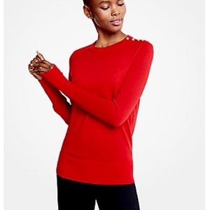 Ann Taylor Pearl Crew Neck Knit Top